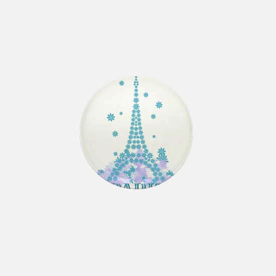 Flower Eiffel 04 Mini Button
