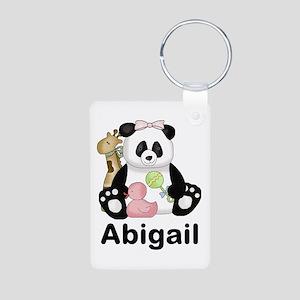 Abigail's Little Panda Aluminum Photo Keychain