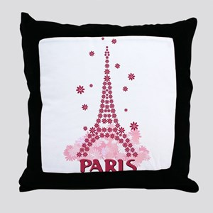 Flower Eiffel 05 Throw Pillow