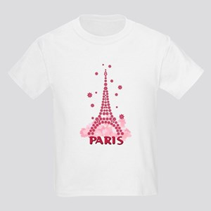 Flower Eiffel 05 Kids Light T-Shirt