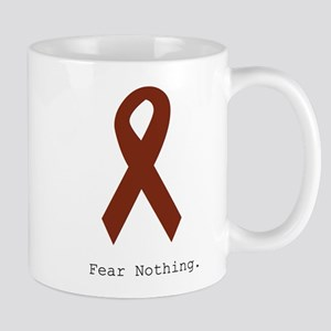Fear Nothing. Burgundy Mugs