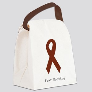 Fear Nothing. Burgundy Canvas Lunch Bag