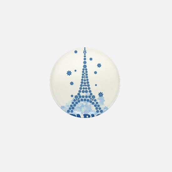 Flower Eiffel 08 Mini Button
