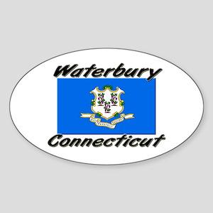 Waterbury Connecticut Oval Sticker