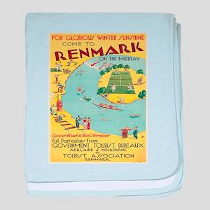 Vintage poster - Australia baby blanket