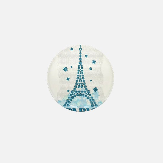 Flower Eiffel 09 Mini Button