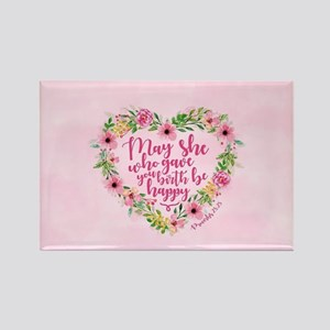 May She Who Gave Birth Be Happy Rectangle Magnet