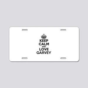 Keep Calm and Love GARVEY Aluminum License Plate