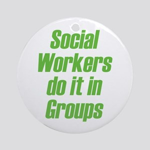 Social Workers Ornament (Round)