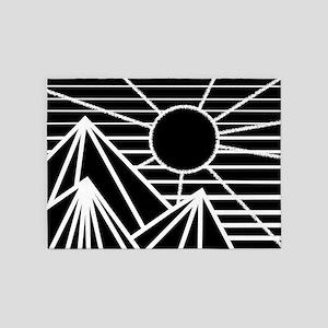Black Sun 5'x7'Area Rug
