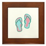 Flip Flops Framed Tile
