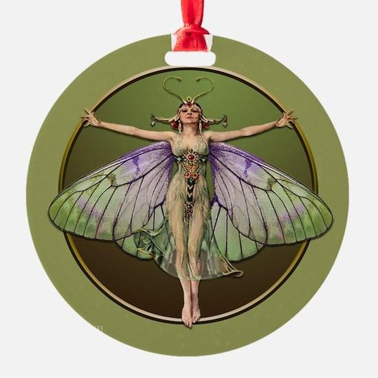 Green Boarder Flapper Fairy Ornament