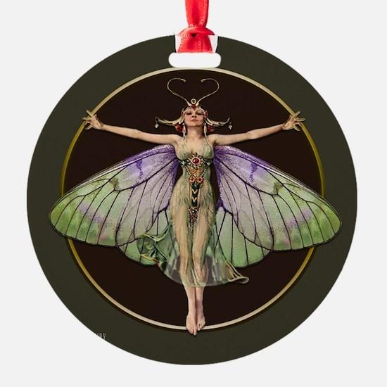 Dark Green Flapper Fairy Ornament