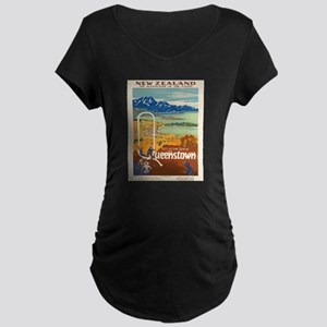 Vintage poster - New Zealand Maternity T-Shirt
