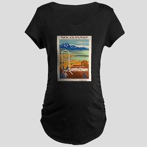 Vintage poster - New Zealand Maternity T-Shirt