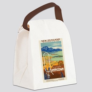 Vintage poster - New Zealand Canvas Lunch Bag