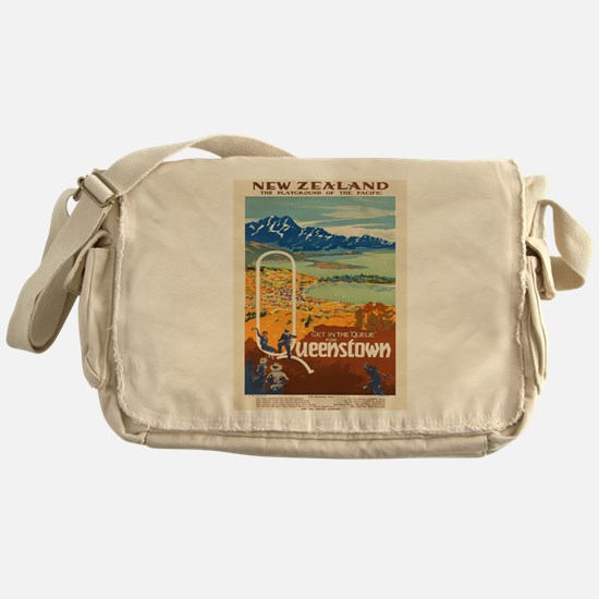 Vintage poster - New Zealand Messenger Bag