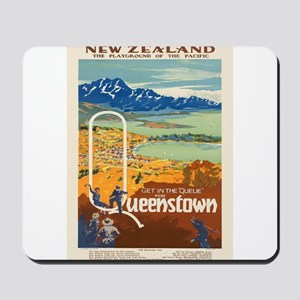Vintage poster - New Zealand Mousepad