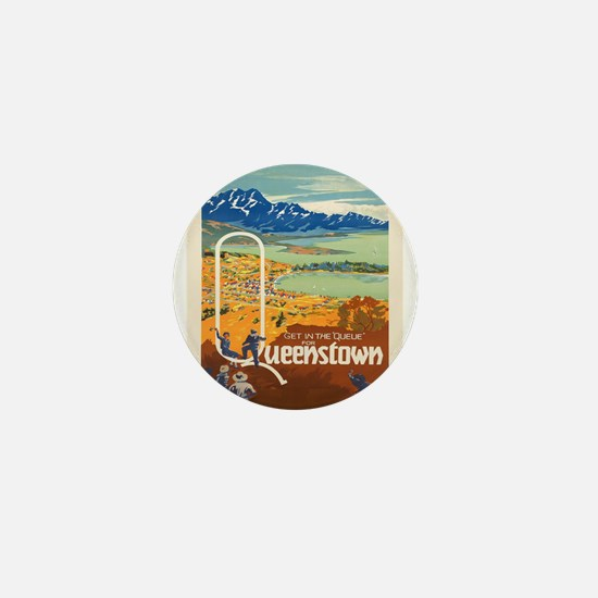 Vintage poster - New Zealand Mini Button