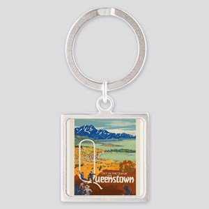 Vintage poster - New Zealand Keychains