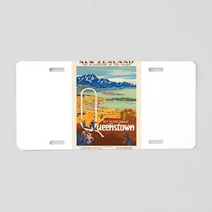 Vintage poster - New Zealan Aluminum License Plate