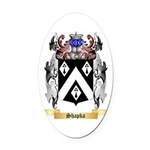 Shapka Oval Car Magnet