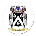 Shapka Round Car Magnet