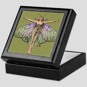 Flapper Fairy Lt. Green Keepsake Box