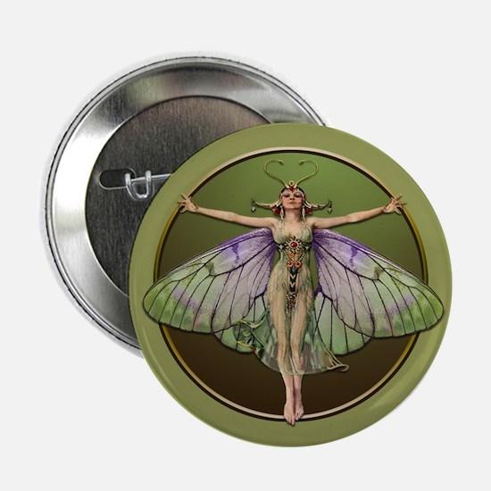 """Green Flapper Fairy 2.25"""" Button"""