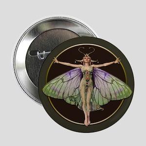 "Dark Green Flapper Fairy 2.25"" Button"
