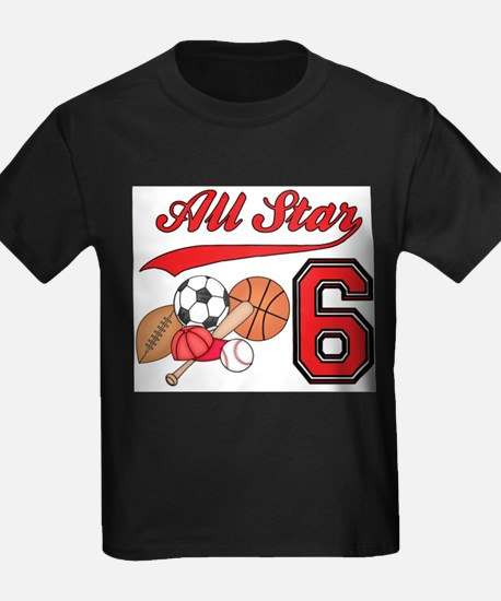 AllStar Sports 6th Birthday T-Shirt