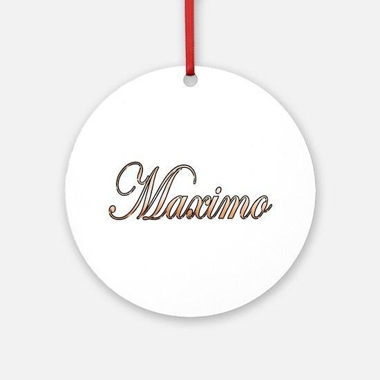 Unique Maximo Round Ornament