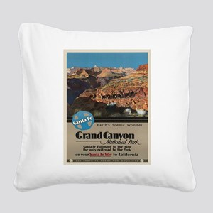 Vintage poster - Grand Canyon Square Canvas Pillow