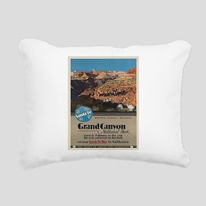 Vintage poster - Grand C Rectangular Canvas Pillow