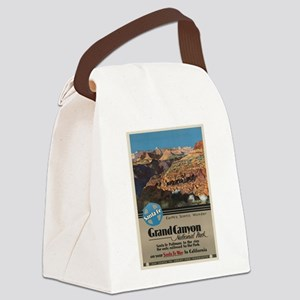 Vintage poster - Grand Canyon Canvas Lunch Bag