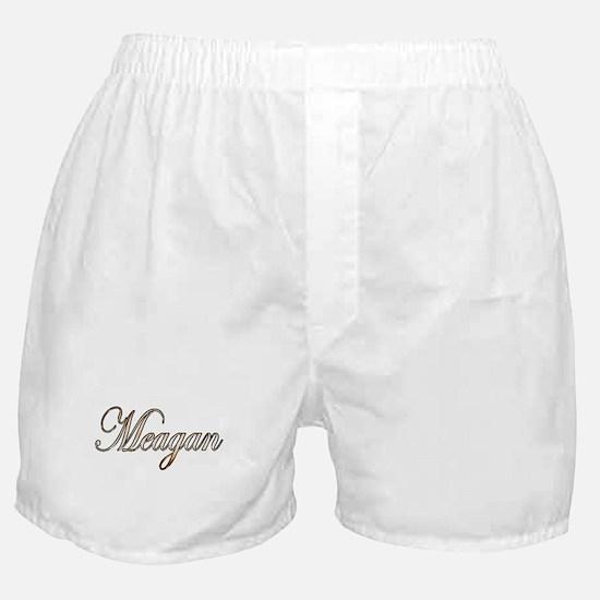 Gold Meagan Boxer Shorts