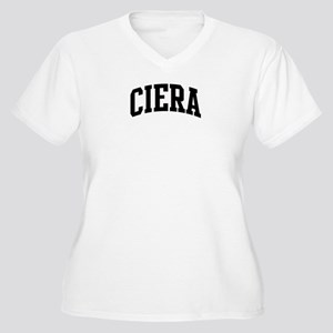 CIERA (curve) Women's Plus Size V-Neck T-Shirt