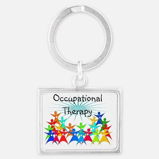 Unique April is occupational therapy month Landscape Keychain