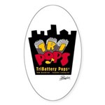 TriBattery Pride Oval Sticker