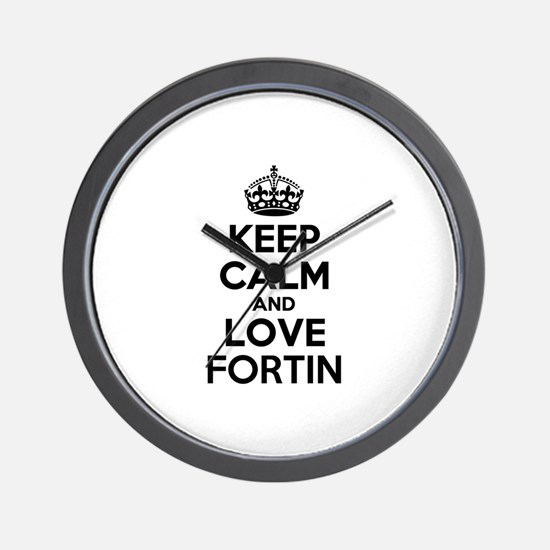 Keep Calm and Love FORTIN Wall Clock