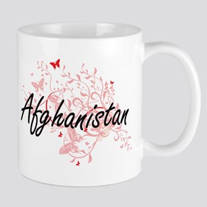 Afghanistan Artistic Design with Butterflies Mugs