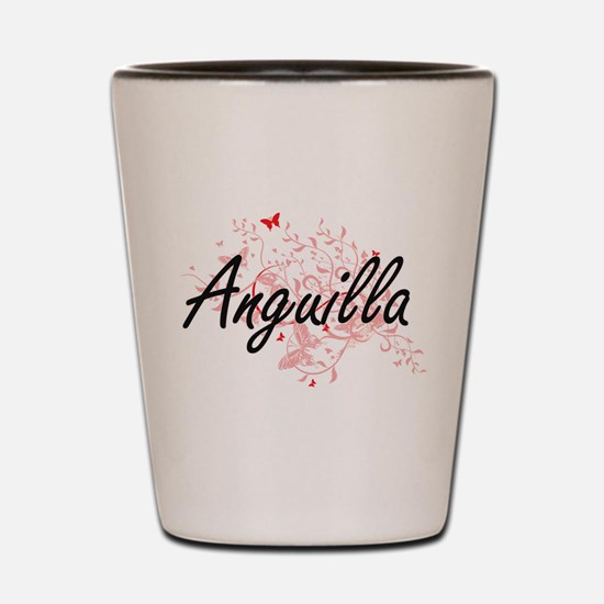 Anguilla Artistic Design with Butterfli Shot Glass