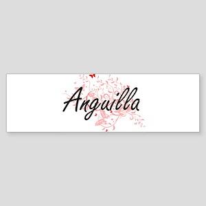 Anguilla Artistic Design with Butte Bumper Sticker