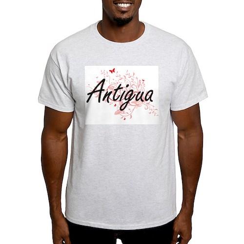Antigua Artistic Design with Butterflies T-Shirt