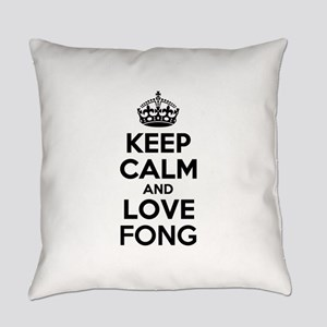 Keep Calm and Love FONG Everyday Pillow