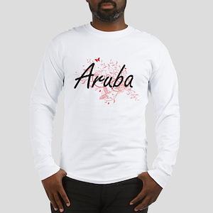 Aruba Artistic Design with But Long Sleeve T-Shirt