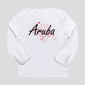 Aruba Artistic Design with But Long Sleeve T-Shirt