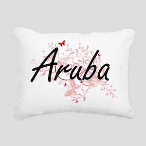 Aruba Artistic Design wi Rectangular Canvas Pillow