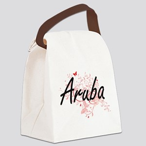 Aruba Artistic Design with Butter Canvas Lunch Bag