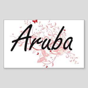 Aruba Artistic Design with Butterflies Sticker